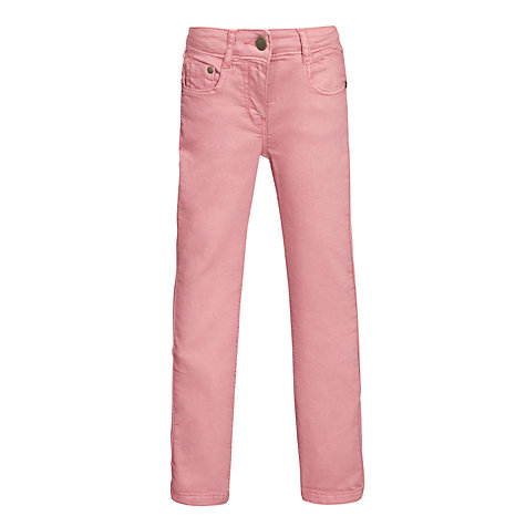 Buy Kin by John Lewis Girls' Straight Leg Jeans, Pink Online at johnlewis.com