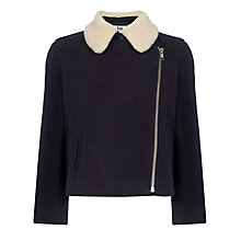 Buy Kin by John Lewis Girls' Biker Jacket, Navy Online at johnlewis.com
