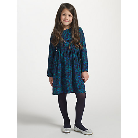 Buy John Lewis Girl Cotton Tights, Pack of 2, Navy Online at johnlewis.com