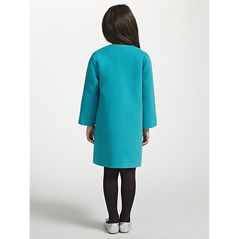Buy Kin by John Lewis Girls' Collarless Coat, Teal Online at johnlewis.com