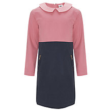 Buy Kin by John Lewis Girls' Peter Pan Dress, Pink Online at johnlewis.com