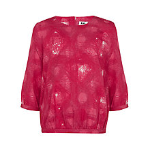 Buy Kin by John Lewis Girls' Check Print Top, Rose Online at johnlewis.com