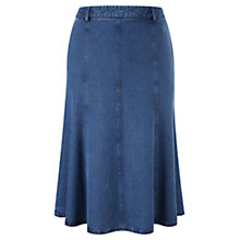 Buy CC Petite Stretch Denim Skirt, Chambray Online at johnlewis.com