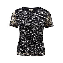 Buy CC Petite Lace Top, Navy/White Online at johnlewis.com