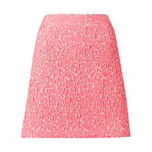 Buy Whistles Animal Jacquard Skirt, Pink Online at johnlewis.com