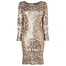 Buy Phase Eight Melinda Sequin Dress, Antique Online at johnlewis.com