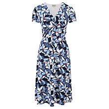 Buy CC Petite Floral Print Dress, Rouge/Navy/Sky Blue Online at johnlewis.com