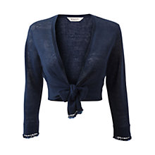 Buy East Beaded Shrug, Royal Blue Online at johnlewis.com