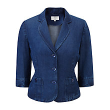 Buy CC Petite Stab Stitch Denim Jacket, Chambray Online at johnlewis.com