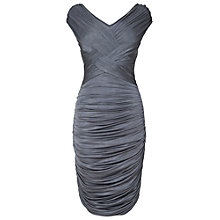 Buy Phase Eight Ida Ruched Dress, Charcoal Online at johnlewis.com