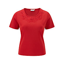 Buy CC Petite Flower Detail Top Online at johnlewis.com