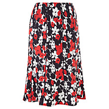 Buy CC Petite Nautical Flower Piped Linen Skirt, Rouge/Navy Online at johnlewis.com