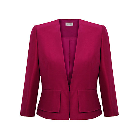Buy Kaliko Pleated Edge Jacket, Bright Pink Online at johnlewis.com