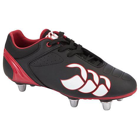 Buy Canterbury of New Zealand Phoenix Club 6 Stud Rugby Boots, Black/Red Online at johnlewis.com