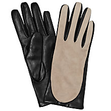 Buy Somerset by Alice Temperley Two Tone Leather Gloves Online at johnlewis.com