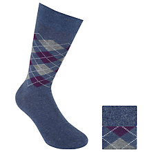 Buy John Lewis Cotton Cashmere Argyle Socks, Pack of 2 Online at johnlewis.com