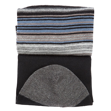 Buy John Lewis Egyptian Cotton Mix Stripe Socks, Pack of 2 Online at johnlewis.com