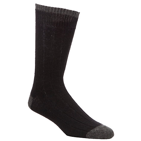 Buy John Lewis Cashmere Contrast Heel Socks Online at johnlewis.com