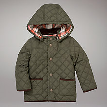 Buy John Lewis Quilted Jacket, Khaki Online at johnlewis.com