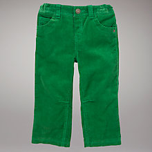 Buy John Lewis Corduroy Trousers, Green Online at johnlewis.com