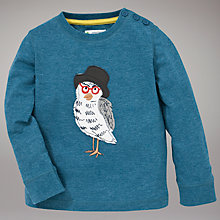Buy John Lewis Owl Print Top, Blue Online at johnlewis.com