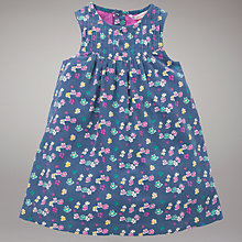 Buy John Lewis Ditsy Flower Corduroy Dress, Blue Online at johnlewis.com