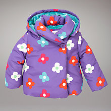 Buy John Lewis Flower Padded Jacket, Purple Online at johnlewis.com