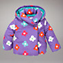 John Lewis Flower Padded Jacket, Purple