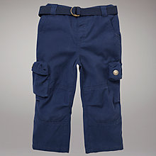 Buy John Lewis Canvas Trousers, Navy Online at johnlewis.com