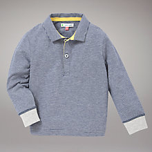 Buy John Lewis Skinny Stripe Rugby Top, Navy Online at johnlewis.com