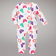 Buy John Lewis Butterfly Fruit Sleepsuit, Multi Online at johnlewis.com