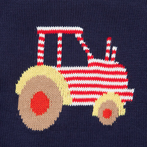 Buy John Lewis Tractor Piecrust Jumper, Navy Online at johnlewis.com