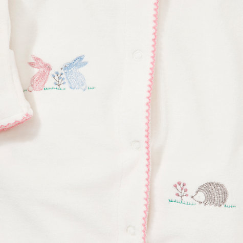 Buy John Lewis Baby Hedgehog Sleepsuit, Cream Online at johnlewis.com