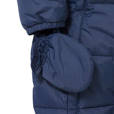Buy John Lewis Baby Rip Stop Wadded Snowsuit, Navy Online at johnlewis.com