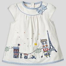 Buy John Lewis Paris Embroidered T-Shirt, Cream Online at johnlewis.com