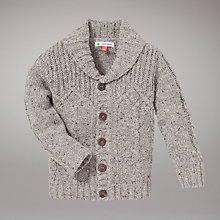 Buy John Lewis Cable Knit Cardigan, Grey Online at johnlewis.com