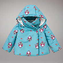 Buy John Lewis Owl Padded Jacket, Blue Online at johnlewis.com