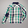 Buy John Lewis Corduroy Collar Checked Shirt, Blue Online at johnlewis.com