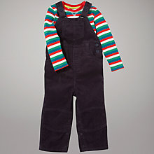 Buy John Lewis Striped Top Dungaree Set, Grey Online at johnlewis.com