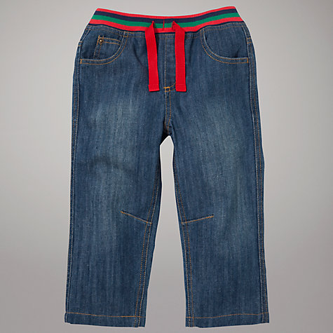 Buy John Lewis Ribbed Waist Jeans, Blue Online at johnlewis.com