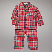 Buy John Lewis Tartan Pyjamas, Red Online at johnlewis.com