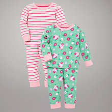 Buy John Lewis Flower Print Pyjamas, Multi Online at johnlewis.com