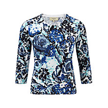 Buy Viyella Petite Floral Jumper, Azure Online at johnlewis.com