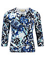 Buy Viyella Petite Floral Jumper, Azure, M Online at johnlewis.com