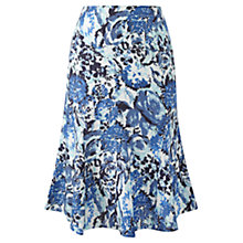 Buy Viyella Petite Floral Linen Skirt, Azure Online at johnlewis.com