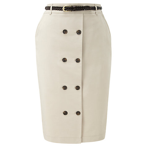 Buy Viyella Belted Skirt, Clay Online at johnlewis.com