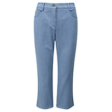Buy Viyella Ticking Striped Cropped Jeans, Navy Online at johnlewis.com