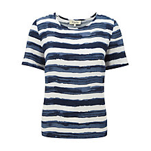Buy Viyella Stripe Cupro Blouse, Ink Online at johnlewis.com
