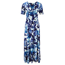 Buy Viyella Petite Floral Print Dress, Azure Online at johnlewis.com