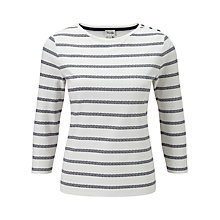Buy Viyella Aztec Striped Top, Ivory Online at johnlewis.com